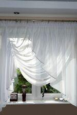 AG8 Rideau prêt à poser en voile Conception TOP beau Rideau moderne Blanc