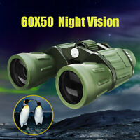 Professional HD 60x50 Zoom Adjustment Binoculars Day Night Vision Telescope