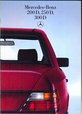 Mercedes-Benz W124 Diesel Saloons 1985 German market sales brochure