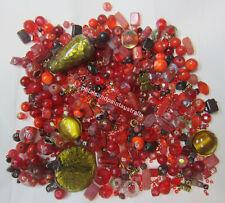 1048 Bead Mix Red /& Pink Multi 170-200 Beads *UK  SHOP*