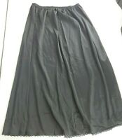 Vintage 60s Vanity Fair Black Nylon Lace Half Slip Small Full Length