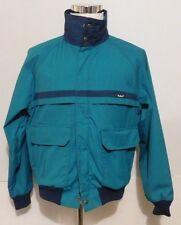 WOOLRICH Mens Vintage 1990s Green & Navy Bomber Flight Jacket Coat Size Large L