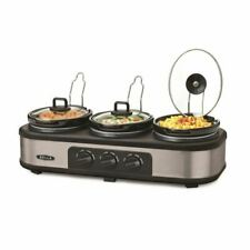 Bella 3 Hot Pot Electric Slow Cooker | Multifunctional Triple Pot Food Warmer