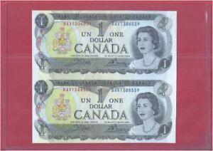 Canada 1 Dollar 1973 Uncut 2-In-1 (UNC) BAX 1306039 BAX 1308539