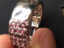 Rhodolite Garnet sterling silver hoop earrings