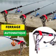 Support de canne à pêche à double ressort en acier automatique pour la pêche