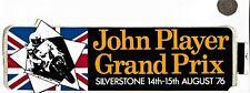LARGE Rare Original John Player JPS Bikes Grand Prix Silverstone Sticker 1976