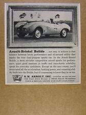 1957 Arnolt-Bristol Bolide roadster race car photo vintage print Ad
