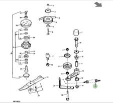 Véritable JOHN DEERE Deck DRIVE Courroie Serrage printemps M134312 455