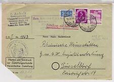 Bizone / Bauten, Mi. 94eg, 124, Zust.Urkunde,Wuppertal-Langerfeld, Z1-NST i.rot