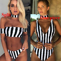 Women Bandeau Bikini Set Padded Push-up Swimsuit Bathing Suit Swimwear Beachwear