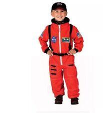 Astronaut Orange Nasa USA Space Child Costume 4-6 Jumpsuit Patches