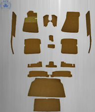 Teppichsatz für Mercedes R107 SL  17 Teilig Kunstleder kamel/dattel