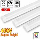 4 Pack 40W LED Tube Light Fixture LED Shop Light for Garage 5000K Natural White