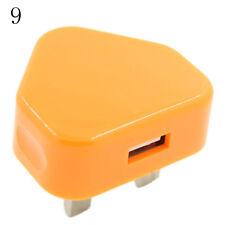 UK Plug Mains Wall 3Pin USB Power Adaptor Charger For Mobile Cell Phone TabletPB