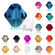 40/50/120/150pcs Crystal Beads Bicone Spacer for Jewellery Necklace 3/4/6/8mm