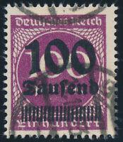 DR 1923, MiNr. 289 a, sauber gestempelt, gepr. Infla, Mi. 140,-