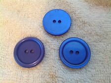 NEW 25 1 inch ROYAL BLUE PEARL BUTTON 2 HOLE W/RIM