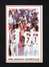 Cleveland Indians--1996 Pocket Schedule--Office Max