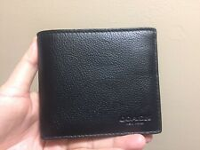 MEN'S COACH DOUBLE BILLFOLD WALLET/ BLACK/F75084