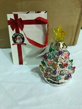 Mr. Christmas Set of 4 Mini Nostalgic Tree Ornaments w/ Gift Bags SILVER New J3