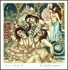 David Bekker 2011 Exlibris C4 Erotic Erotik Nude Sex Nudo Woman Sheikh Harem 952
