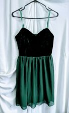 Ladies Missguided Dress Size 10 Autumn Green Party Dress Straps