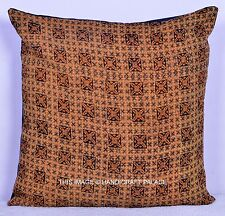 "Vintage Kantha Sofa Pillow Cover Bohemian Pillow Case Cushion Cover 24"" Throw"