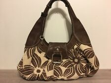 Women's Fossil Purse Style ZB2936, Brown, Cream, Canvas & Leather, Nice!
