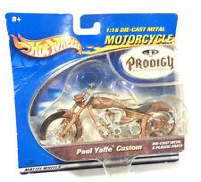 Hot Wheels Prodigy Paul Yaffe Customs Original Motorcycle 2001 1:18 Sealed 89064
