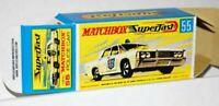 Matchbox Lesney Superfast  No 55 MERCURY POLICE CAR Empty Repro Box style G