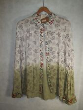 NWT Red Pineapple POL Floral Dip Dyed Ditsy Button Down New $46.99 Shirt Size M