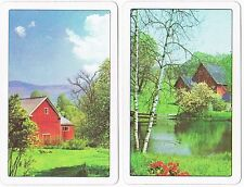 Litho USA Playing Cards Red Barn Double Deck Vintage