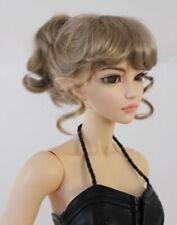 "1/3 bjd 8-9"" doll head beige ponytail style wig dollfie Luts Smart SD JD261L"