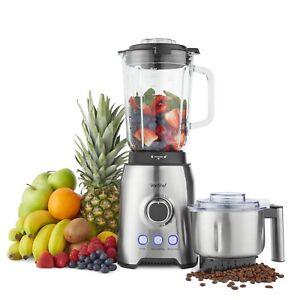VonShef Blender Glass Jar Smoothie Maker Juicer Grinder Ice Crusher Machine 1000