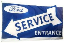 Ford Service Flag Banner 3x5 ft Wall Garage White Car Racing