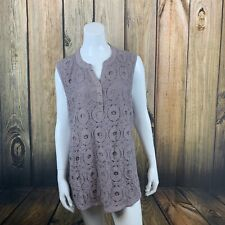 Shannon Ford Sleeveless Lace Overlay Tank 3x