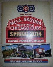 Chicago Cubs - 2014 Spring Training Program - Mesa Riverview Park