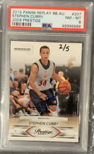 2009 Prestige Stephen Curry Auto 2/5!!! Came From 2015 Panini Buyback! PSA 8!!!