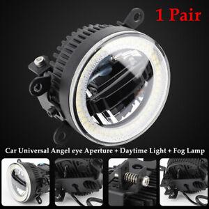 1 Pair Car Angel eye Aperture Daytime Fog Light 3in1 LED Front Bumper Lighting