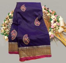 Women Special Wear Soft Raw silk Indian Wear Designer Sari Bollywood Sari I 21-5
