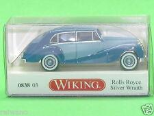 1:87 Wiking 083803 Rolly Royce Silver Wraith - blau Blitzversand per DHL-Paket