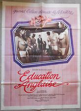Affiche EDUCATION ANGLAISE Jean-Claude Roy JEAN ANTOLINOS André Dupon 120x160cm