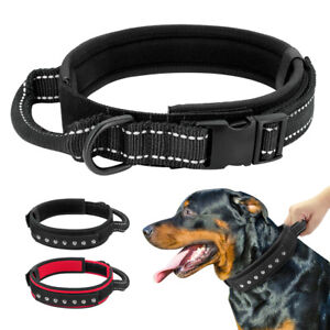 Adjustable K9 Dog Collar & Control Handle Metal Buckle Dog Training Collar Nylon
