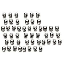 50pcs Antiqued Silver Skull Head Beads 12 x 8mm with 4mm Hole Metal Spacers