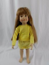 "Vintage 1996 Magic Attic Club Megan 18"" Doll Yellow Outfit"