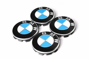 4x Original BMW Nabenabdeckungen Nabendeckel 3er 5er 6er 7er X1 X3 X5 Z4 6783536