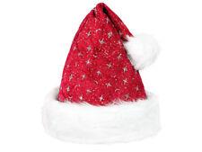 Bonnet de Noël luxe en velours rouge déguisement femme adulte fête sympa wm-01