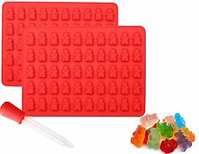 2 Pack Gummy Bear Chocolate & Candy Making Molds + Dropper, Free Shipping, New