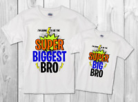 T-Shirt Big brother /Biggest brother TEE  Pregnancy announcement sibling shirt